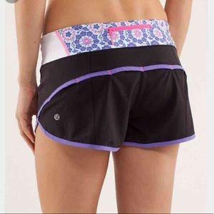 Lululemon Rare Purple Twiggy Pop Speed Shorts